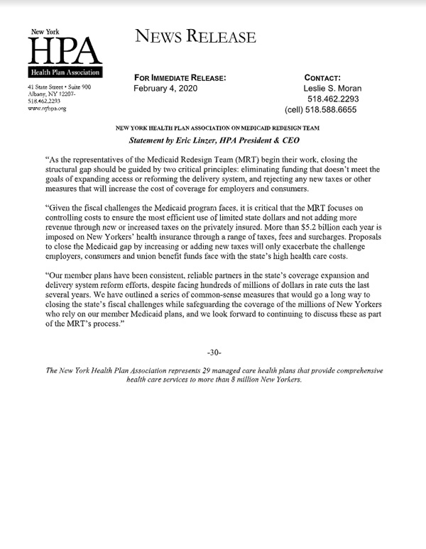 NYHPA Press Release Feb 04 2020