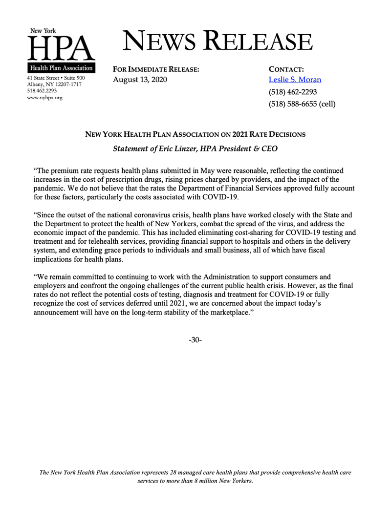 News Release 8-13-2020