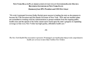 NYHPA Statement On Lieutenant Governor Kathy Hochul Becoming Governor Of New York State